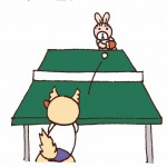 保護中: 卓球*第186話 バックの壁になる