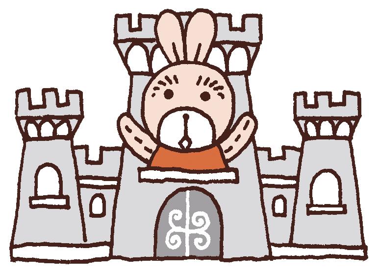 うさぎ漫画masausaお城