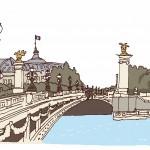 保護中: 4 パリの橋と花